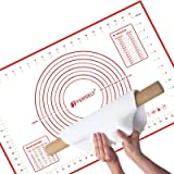 TERSELY X-Large Silicone Pastry Baking Mat (60x40cm) with Measuring Guide ,Extra Thick Non-Stick Fondant Mat, Counter Mat, Ov