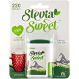 Stevia Sweet Sweetener 220 Tablets, Calorie Free, Vegan and Suitable for Diabetics, 220 Count