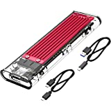 ORICO Transparent NVMe M.2 Enclosure Tool-Free USB3.1 Type-C Gen2 10Gbps to M.2 SSD Enclosure for Intel 660p/Samsung 970 EVO/