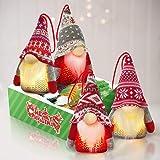 KMUYSL Lighted Tomte Gnomes Christmas Ornaments,Handmade Swedish Santa Gnomes Plush Santa Elf Lights Table Home Decor Ornamen