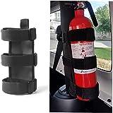 Adjustable Roll Bar Fire Extinguisher Mount Holder 3 lb for Jeep Wrangler Unlimited CJ YJ LJ TJ JK JKU JL JLU 4XE,(Black, Wit