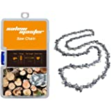 """SALEM MASTER 16 Inch Chainsaw Chains - .050"""" Gauge - 3/8 LP Pitch - 56 Drive Links, Semi-Chisel Gas Powered Chainsaw Chain Fi"""