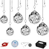 MerryNine Clear K9 Crystal Prism Ball Pendant kit Suncatcher Rainbow Pendants Maker, Hanging Crystals Prisms with Fish line,R