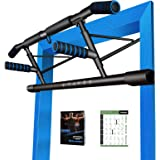 2020 Upgraded Portable Pull Up Handles for Doorframe, Chin Up Bar Handles - Home Gym Exercise Equipment for Indoor/Outdoor/Tr