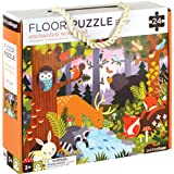 Petit Collage Floor Puzzle, Enchanted Woodland, 24-Pieces – Large Puzzle for Kids, Completed Animal Jigsaw Puzzle Measures 18