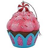 JILLSON & ROBERTS Cupcake Christmas Tree Ornament Pink Peppermint