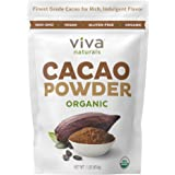 Viva Naturals Certified Organic Cacao Powder from Superior Criollo Beans, Brown, Chocolate, 1 Pound