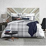 Tommy Hilfiger Parker Plaid Comforter Set, Full/Queen, Grey/White