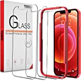 TOZO compatible with iphone 12 Mini Screen Protector 3 Pack Premium Tempered Glass 0.26mm 9H Hardness 2.5D Film Easy 5.4 inch
