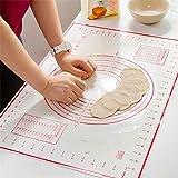 "Silicon Pastry Mat Large 24""x16"" Baking Mat Non-Stick Counter Mat Heat Resistance Dough Rolling Mat BPA Free Fondant Mat for"