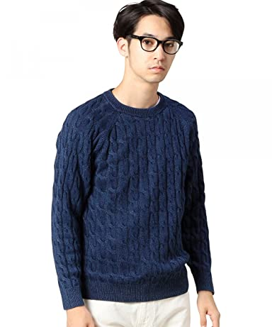 Beauty & Youth Cotton Cable Crewneck Sweater 1213-106-3117