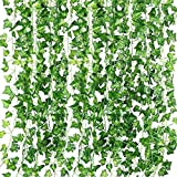 QC Life 84 FT Artificial Ivy Fake Greenery Leaf Garland Plants Vine Foliage Flowers Hanging for Wedding Party Garden Home Kit