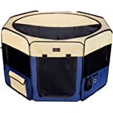 """Aivituvin Dog Playpen 36"""" Portable Foldable Exercise Pen Compatible Small & Large Puppy,Cat,Kitten,Rabbit,-Oxford Cage & Kenn"""