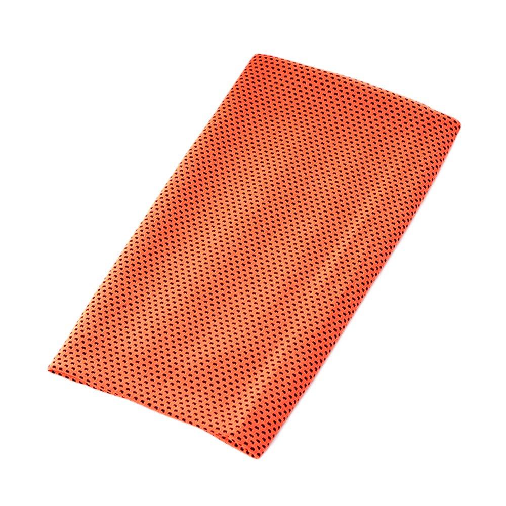 スポーツタオル 冷却タオル 速乾タオル 超吸水性 冷感バンド 熱中症対策 肌触りが良い スポーツ 旅行などに最適 オレンジ