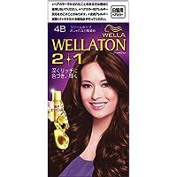ウエラトーン 2+1 クリームタイプ 4B ダークピュアブラウン 白髪染め 深い髪色リッチに輝く 医薬部外品