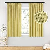 Topfinel カーテン 1級遮光 無地 麻っぽい UVカット 遮像 遮熱 断熱 省エネ おしゃれ 可愛い 洗える 幅…