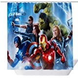 Avengers Movie Shower Curtain,Popular Shower Curtain,Mildew Resistant Fabric Shower Curtains for Bathroom,Contemporary Bathro