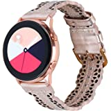 Glebo Hollow Flower Leather Band Compatible with Samsung Galaxy Watch