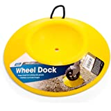 Camco Heavy Duty Wheel Dock with Rope Handle - Helps Prevent Trailer Wheel from Sinking Into Dirt or Mud, Easy to Store and T