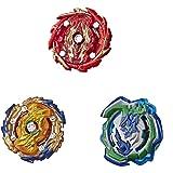 Beyblade Burst Rise Hypersphere Battle Hunters 3-Pack -- Wizard Fafnir F5, Ogre O5, Bushin Ashindra A5 Battling Top Toys, Age