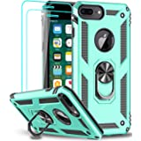 iPhone 8 Plus Case, iPhone 7 Plus Case, iPhone 6 Plus Case with Tempered Glass Screen Protector [2Pack], LeYi Military Grade