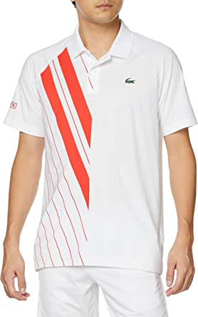 [ラコステ] ポロシャツ [公式] 『ノバク・ジョコビッチ』アシンメトリーストライプポロシャツ メンズ DH2241L
