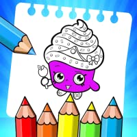 Cupcake  - Coloring book for kids