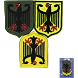 MUNAN Patch 3 Pieces Germany Coat of Arms Patch German Eagle Shield Tactical Patch Tactical Military Embroidery Badge Hook an
