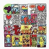 ジャション クラットブ Keith Haring 落書きアート ステッカー シール50枚ステッカーセット ステッカー 防…