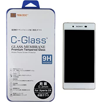 NEWLOGIC 【Sony Xperia Z4 前面】 C-Glass 0.3mm 保護ガラス (硬度 9H) 液晶保護 フィルム/SO-03G / SOV31 (前面)