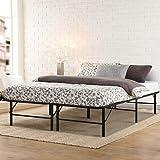 Queen Bed Frame, Artiss Foldable Metal Platform Bed Base, Black