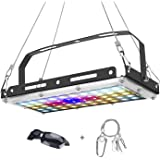 LED Plant Grow Light Full Spectrum Indoor Plants Light Growing Lamp Rope Hanger,Hydroponic Greenhouse Indoor Plants Veg and F