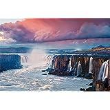 やのまん 1000ピース ジグソーパズル セルフォスの滝(アイスランド) (50x75cm) 10-1316