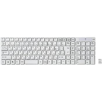 サンワサプライ SKB-WL13W ワイヤレスキーボード ホワイト