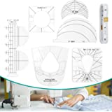 Shirt Guide Ruler, TAOZIM 6Pcs Acrylic Quilting Templates Sewing Machine Kits Ruler w/ 1Pc Measuring Tape Free Motion Quiltin