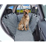 Dog Car Seat Cover, 100% Waterproof Premium Dog Car Hammock with Visible Mesh Window, Nonslip Backing, Durable Dog Seat Cover