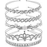 Exacoo Pack of 2 Rhinestone Tiara Crown Exquisite Headband Comb Pin Wedding Bridal Birthday Tiaras STYLE 2