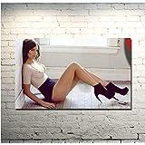 ローレンコーハン女優テレビシリーズウォーキングデッドキャンバスプリントポスターウォールアートプリントキャンバス家の装飾ギフト(60X80Cm)-24x32インチフレームなし