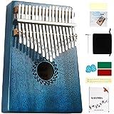 Kalimba Thumb Piano 17 Keys with mahogany Wood Portable Mbira Finger Piano Gifts for Kids and piano Beginners Professional (B