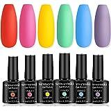 Senvenski Gel Nail Polish Red Pink Yellow Green Blue Purple Rainbow Colors Soak Off UV LED Manicure Art Varnish Gift Set Kit