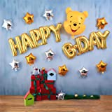 Winnie The Pooh Birthday Party Supplies Pooh Theme Party Banner Balloon Cake Topper Decoration