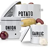 Farmhouse Potato Onion Garlic Storage Canisters