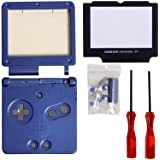 Timorn Full Parts Housing Shell Pack Replacement for Nintendo GBA SP Gameboy Advance SP Blue Pack