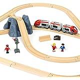 BRIO 33773 Railway Starter Set A, 26 Pieces Train Set,Green