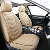 BLUEWALDON Leather Seat Covers for Cars SUV Trucks Universal Fit for Jeep Ford Fusion Toyota Corolla Hyundai Sonata Honda Civ