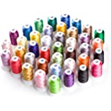 Simthread Polyester Embroidery Machine Thread 40 Colors for Brother Babylock Janome Singer