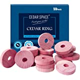 Cedar Space Cedar Blocks for Clothes Storage 100% Natural Aromatic Red Cedar Rings Protection for Wardrobes Closets and Drawe
