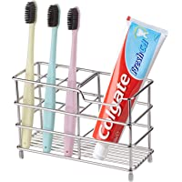 ステンレス 歯ブラシスタンド 置き型 ハブラシ ハミガキ チューブ シェーバー 洗面所 洗面用品 電動歯ブラシ置き