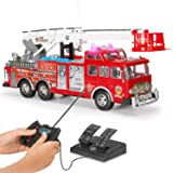 """Liberty Imports 20"""" Jumbo R/C Rescue Fire Engine Truck Remote Control Toy with Ladder"""
