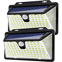 WOWDSGN ソーラーライト 高輝度128LED センサーライト 2個セット 3つ点灯モード IP65防水 ガーデンラ…